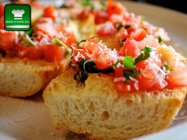 Рецепта за брускети с домати, зехтин и маслини