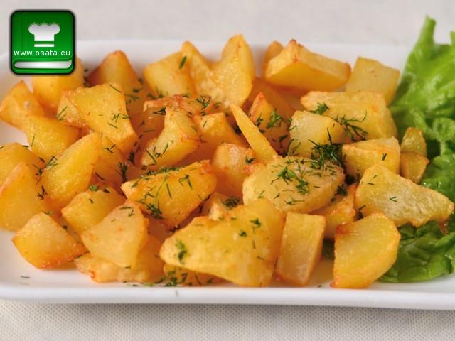 Рецепта за печени картофи с оцет и чесън