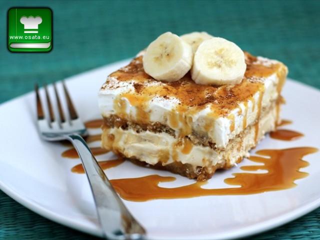 Рецепта за бананово тирамису с карамел