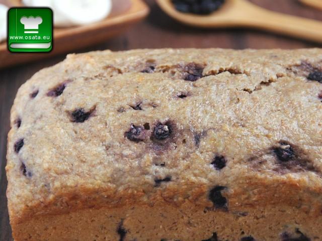 Рецепта за пълнозърнест кекс с боровинки