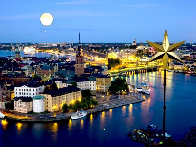 На екскурзия в Швеция - Стокхолм през нощта
