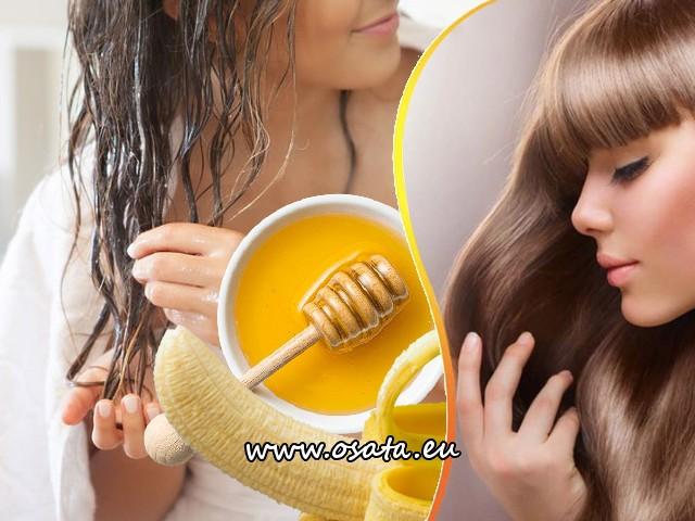 Домашна маска за коса с банан и мед