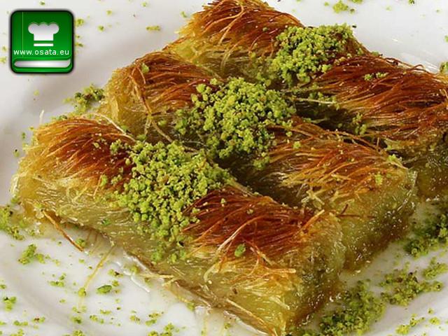 Рецепта за кадаиф с шамфъстък (бурма кадаиф)