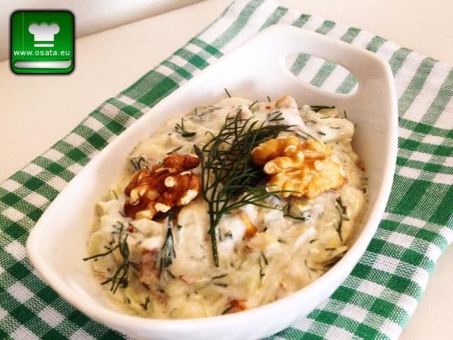 Рецепта за млечна салата от тиквички